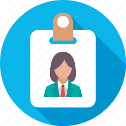 employee card, id card, identity, personal id, student card icon