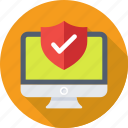 antivirus, firewall, monitor, safety, shield icon