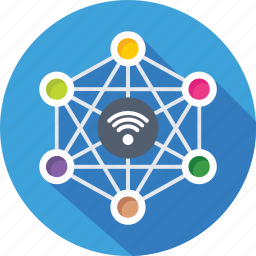 connections, internet, links, networking, social icon