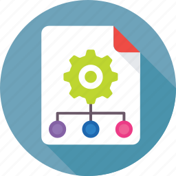 hierarchy, network, sitemap, structure, workflow icon