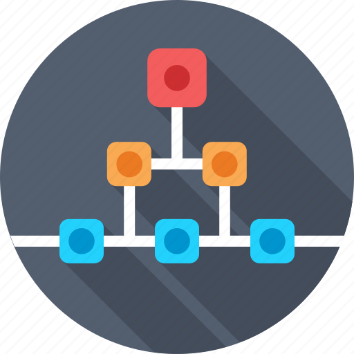 connections, flowchart, hierarchy, project, scheme icon