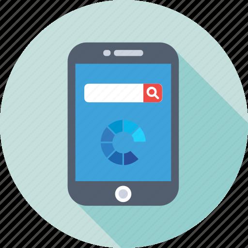 browsing, internet, internet explorer, mobile, search bar icon