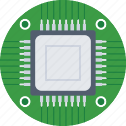 chip, electronic, memory chip, microprocessor, processor icon