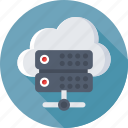 cloud computing, cloud data, database, networking, server icon
