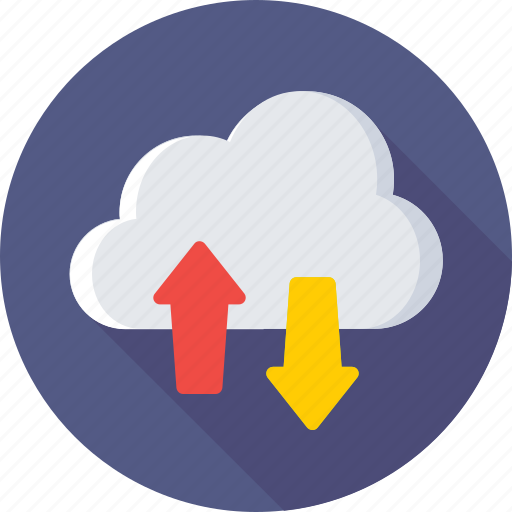 cloud computing, cloud downloading, cloud uploading, data, networking icon