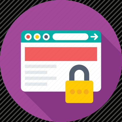 cybersecurity, internet, lock, web security, website icon