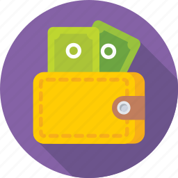 billfold, currency, pocketbook, purse, wallet icon