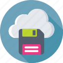 cloud, cloud storage, drive, floppy, storage icon