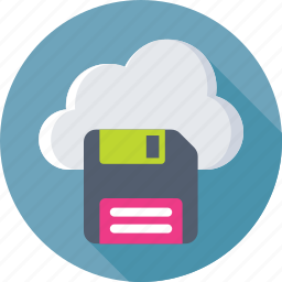 cloud, cloud storage, drive, floppy, storage icon