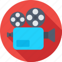 electronics, film, movie camera, recording, video camera icon