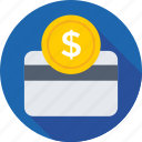 banking, credit card, currency, dollar, finance icon