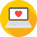 heart, laptop, love, macbook, valentine icon