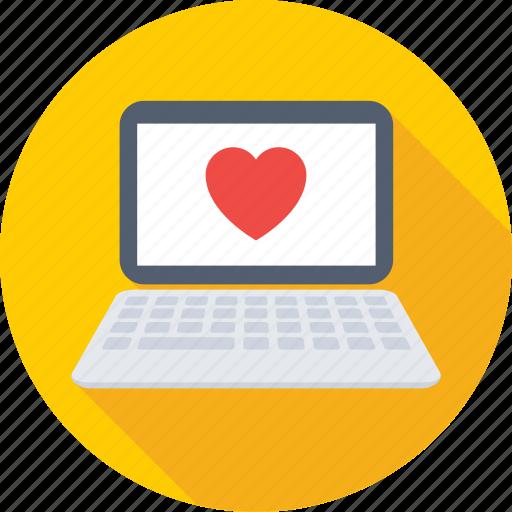 heart, laptop, love, macbook, valentine icon