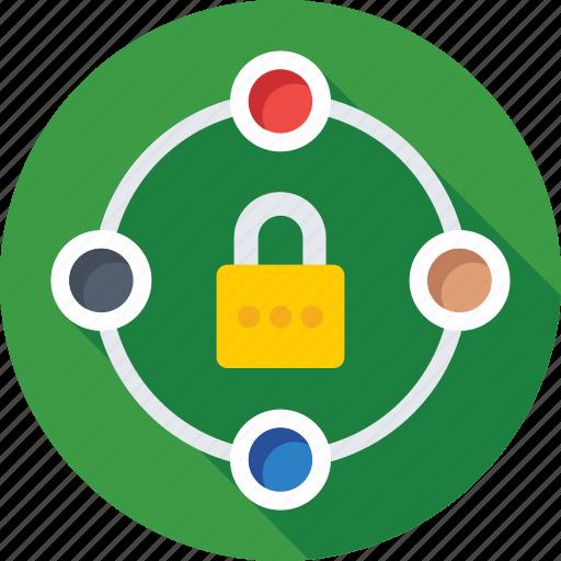 digital lock, digital security, padlock, protection, safety icon