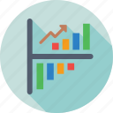 ascending, bar chart, bar graph, growth, progress icon