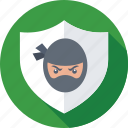 defence, ninja, protection, security, shield icon