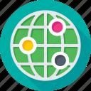 global, global network, globe, map, planet