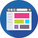 template, web design, web page, website, wireframe icon