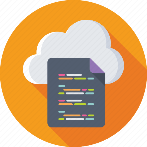 cloud coding, cloud computing, computing, html, programming icon