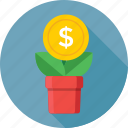 dollar, growth, income, investment, money plant