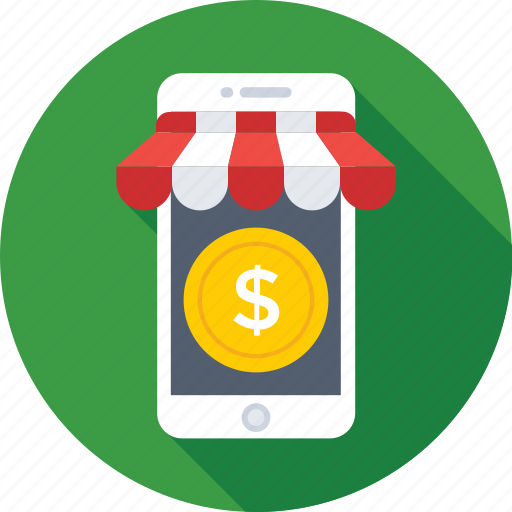dollar, eshop, mobile, mobile shop, shopping icon