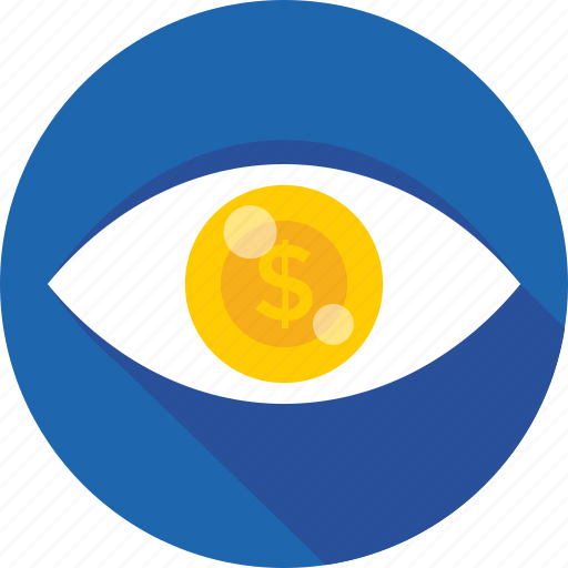 dollar, eye, marketing, seo visibility, visual icon