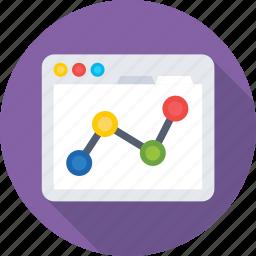 infographic, seo graph, statistics, web analytics, website icon