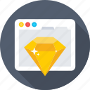 diamond, premium, promotion, seo, website icon