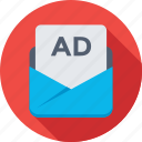 ad, advertisement, marketing, sponsor, subscribe icon