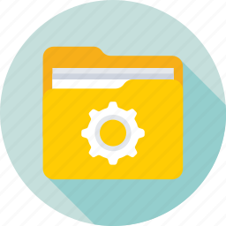 archives, cog, folder, folder setting, preferences icon