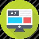 ad, advertisement, marketing, sponsor, tv ads icon