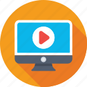 media player, monitor, movie, multimedia, video player icon