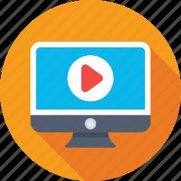 media player, monitor, movie, multimedia, video player icon