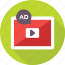 publicity, marketing, video, ads, advertising icon