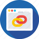 seo, url, link, link building, chain icon