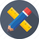 pencil, drafting, scale, architect, ruler icon