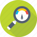 dashboard, magnifier, optimization, seo, speedometer icon