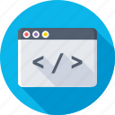 coding, development, div, html, programming icon