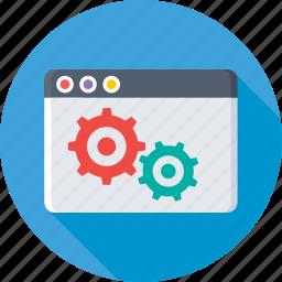 cogs, programming, web development, web tools, website icon