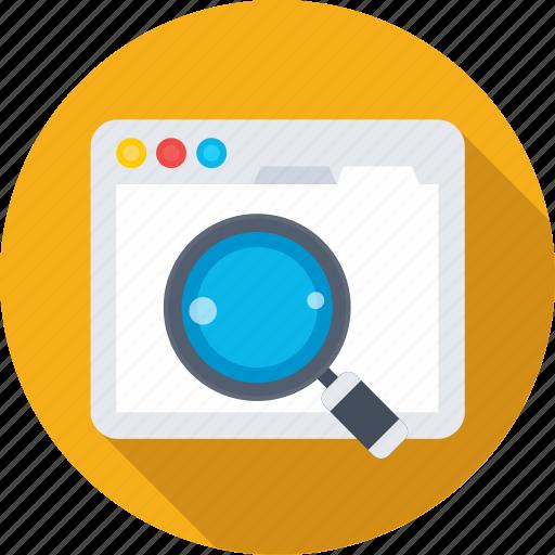 browser, internet, search engine, web, web search icon
