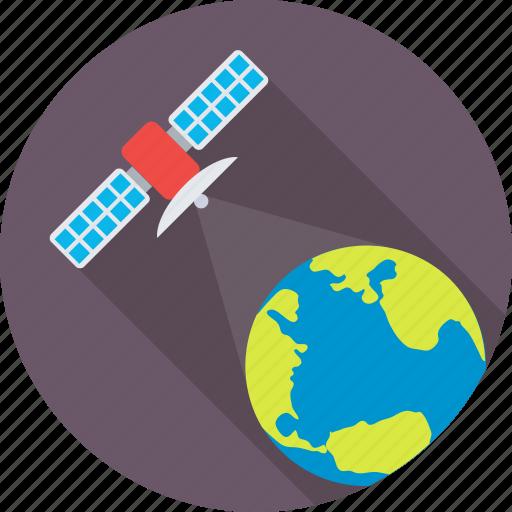 dish antenna, globe, radar, satellite, transmission icon