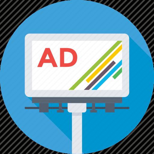ad, advertisement, billboard, marketing, signboard icon