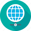 communication, global network, globe, internet, network icon