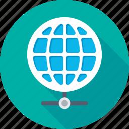 communication, global network, globe, internet, network icon