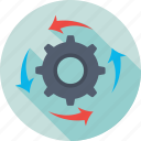 cog, cogwheel, gear, processing, setting icon