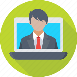communication, customer service, laptop, live chat, video call icon