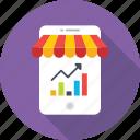 analytics, data, graph, mobile graphs, mobile shop