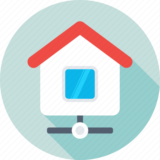 home, home area network, home network, networking, remote network icon