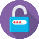 access, lock, padlock, password, unlock icon