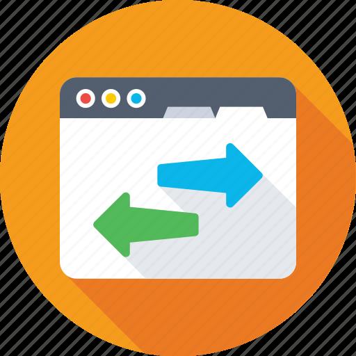 arrows, data share, optimization, seo, web icon